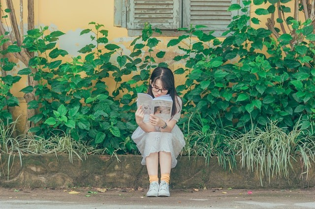 Reading a good book in peacefulness